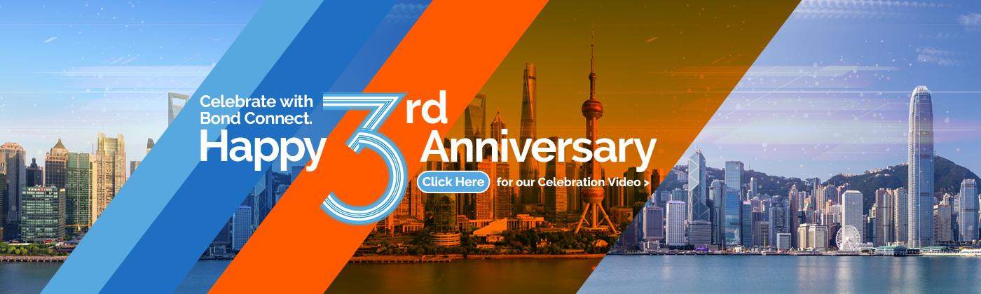 Bond Connect Celebrates 3rd Anniversary